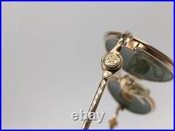 Sonnenbrille Vintage ASTON MARTIN AM 34 gold oval James Bond Gr. M 1990er Etui