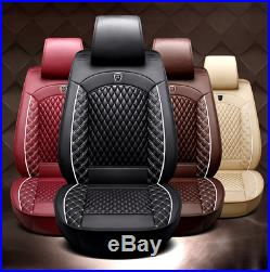 Standard Edition Car 5-Seat Full Set Seat Covers Cushion Breathable PU Leather