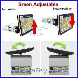 Universal 1DIN 9Touch Rotatable Screen HD Car Stereo Radio GPS Wifi Mirror Link