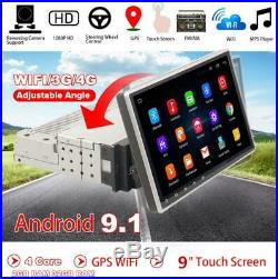 Universal 1Din Android9.1 9 Car Stereo Radio GPS Player Wifi Mirror Link OBD US