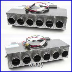 Universal Car Under-Dash Heater 12V 6 Port Metal Shell 32 Pass 4Way Copper Coil