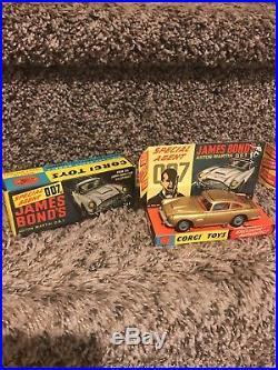 VINTAGE 60's CORGI TOYS # 261 007 JAMES BOND ASTON MARTIN DB 5 MINT w INNER BOX