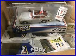 VINTAGE CORGI JAMES BOND 007 ASTON MARTIN DB5 007 94060 Trade Box Mint X12