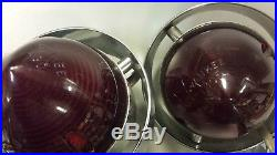VINTAGE YANKEE ACCESSORY Stop TAIL LIGHTS twin-lites red Lenses 12 volt RAT ROD