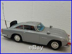 Vintage 1960's GILBERT JAMES BOND 007 Aston Martin DB5 Battery Tin Toy Car