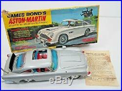 Vintage 1965 Gilbert James Bond Aston-martin Car In Original Box Not Working Toy
