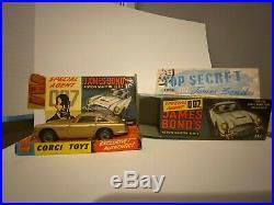 Vintage Boxed Corgi 261 James Bond Aston Martin DB5 1965 1969