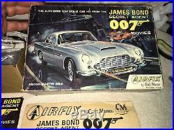 Vintage James Bond 007 Aston Martin DB5 Airfix Craftmaster Model Kit 1/24 Scale