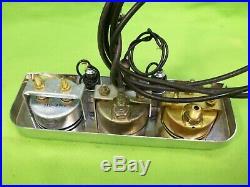 Vintage STEWART WARNER Gauge Panel Set Rat Rod Gasser SCTA Mopar Ford GM