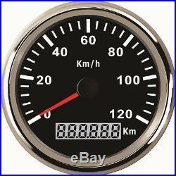 Waterproof GPS Digital Speedometer Gauge 120KM/H For Auto Car Truck Marine 85mm