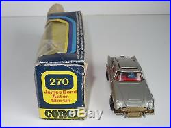 (c) corgi whizwheels JAMES BOND 007 ASTON MARTIN DB5 270